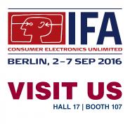 Visit us @ IFA 2016